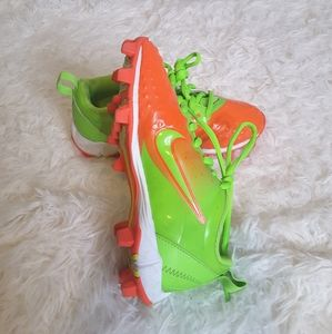 3/$30 Nike FastFlex cleats orange green sz 13